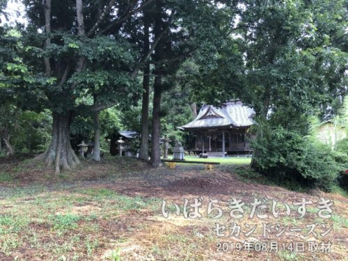 山に入っていくと、(下金沢)十二所神社。