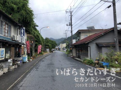 法龍寺方面から常陸大子駅方面に戻ってきた。