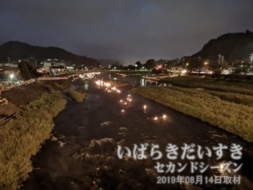 茨城百景 包括風景 久慈川の燈籠流し