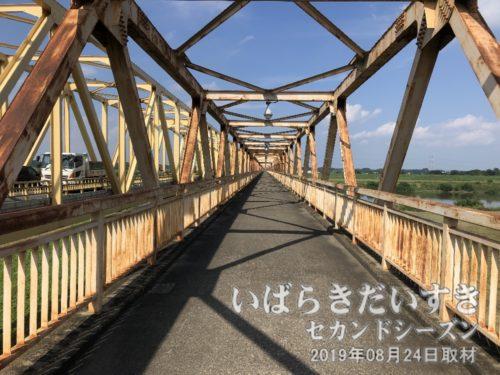 息吹大橋の歩行橋で、利根川を通過。