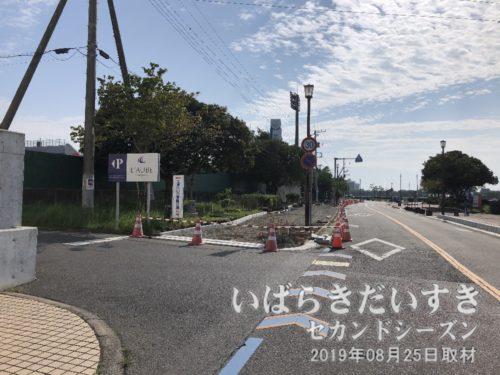 土浦入りは、球場側歩道を整備。