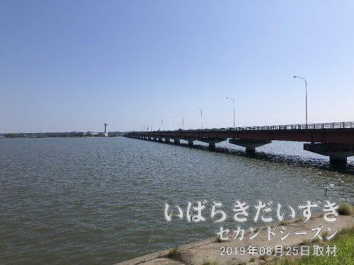 霞ケ浦大橋で行方市に入ります。