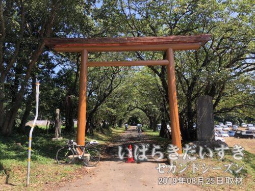 化蘇沼稲荷神社の、新調された鳥居。