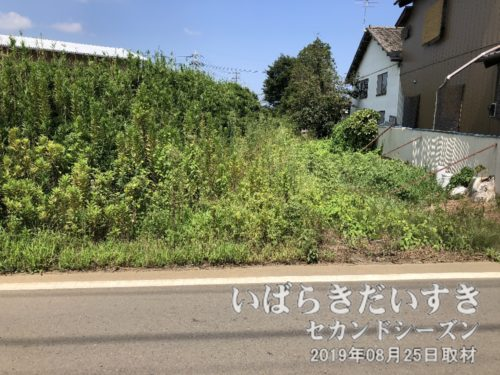 鹿島鉄道鉾田線の石岡駅方面を望む。