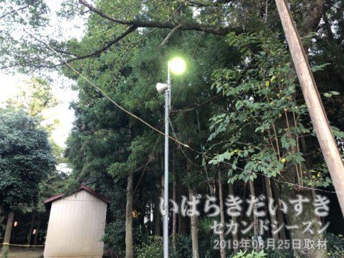 高岡愛宕神社には、常設の照明があります。