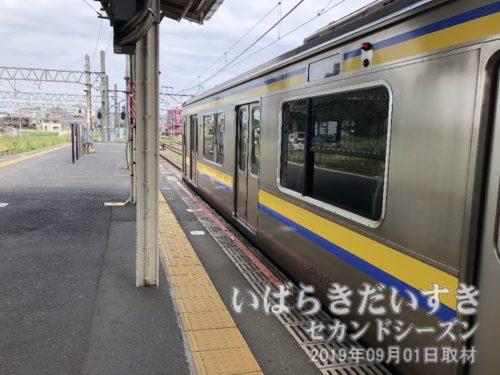 銚子駅行き成田線に乗り換え。