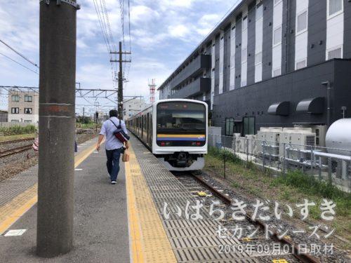 佐原駅では0番線、鹿島神宮駅行に乗り換え。