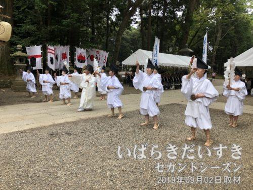 鹿島踊り:コミカルな踊りに見える