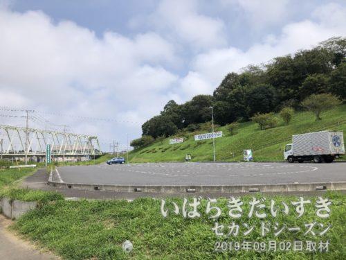 小高い山は、お城跡。鹿島城山公園。