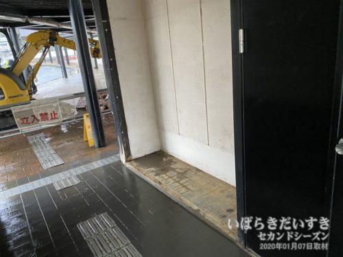 すでに撤去された、観光協会のコインロッカー