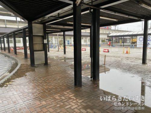 鹿島神宮駅前 バスロータリー(工事中)