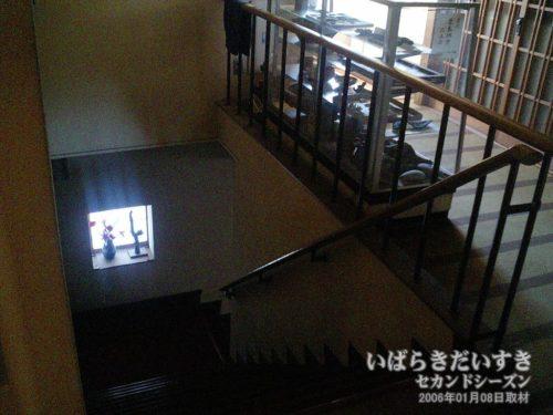 階段を下りていく:吉見屋旅館