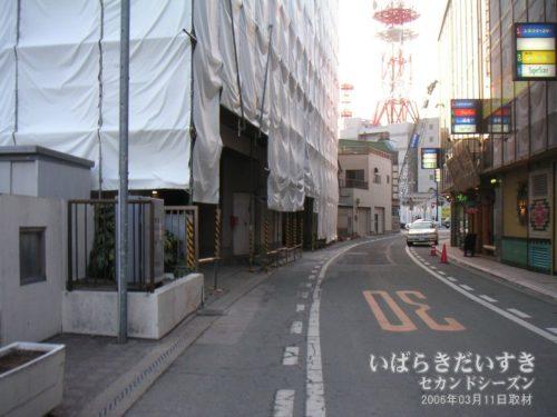 旧土浦東武ホテル 裏手側。