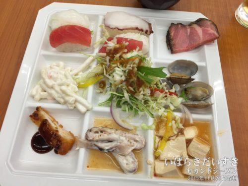 夕食:ホテル奥久慈館