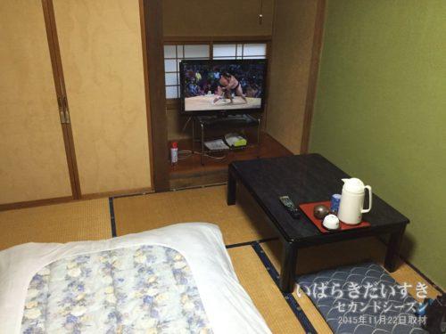 狭い部屋タイプは広縁がない:鈴木屋旅館