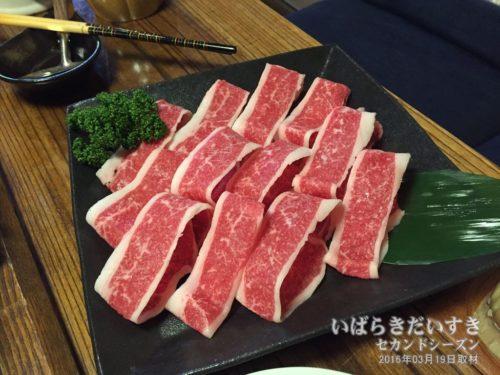 常陸牛 すき焼肉:ホテル網元