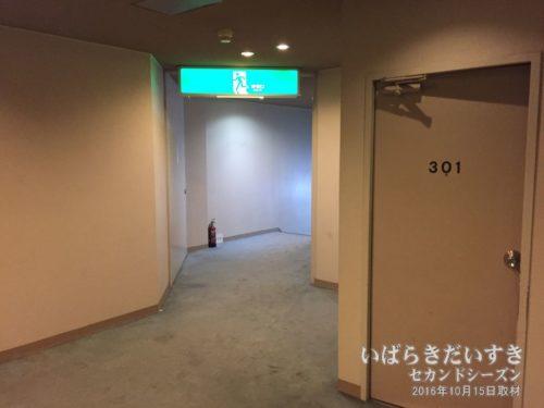 客室階廊下:ホテル河鹿園