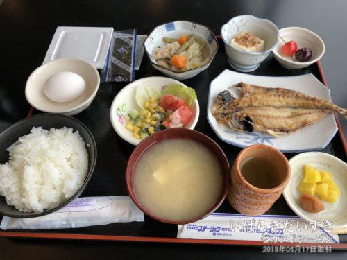 朝食(和食):潮来ステーションホテル