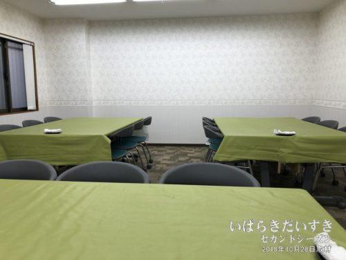 1階会議室:拡張朝食フロアとして使われる。
