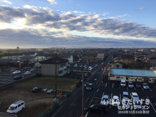 千葉、成田方面を望む:ホテルウィングインターナショナル鹿嶋