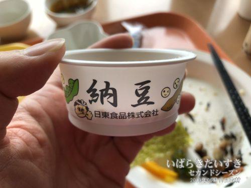 納豆は、日東食品社のものだった。