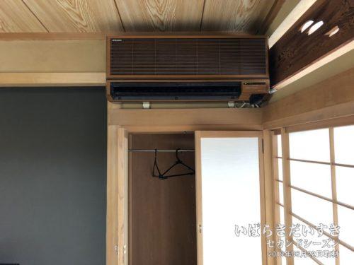 空調もバッチリです:鈴木屋旅館