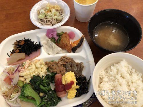 朝食:大金温泉グランドホテル