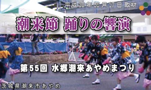 潮来節 踊りの響演 / 第55回 水郷潮来あやめまつり 2006年06月17日 茨城県潮来市あやめ