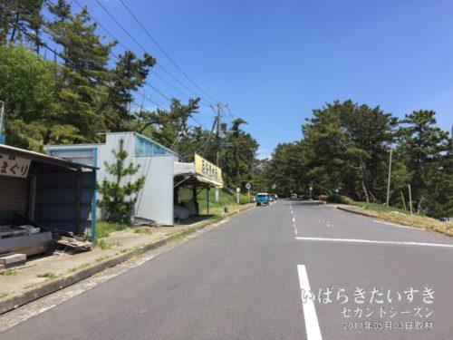 大洗観光協会の一本裏の道