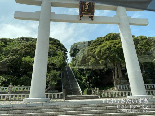 大洗磯前神社の大鳥居。