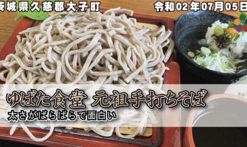 ゆばた食堂 手打ちそば 太さがばらばらで面白い_茨城県久慈郡大子町