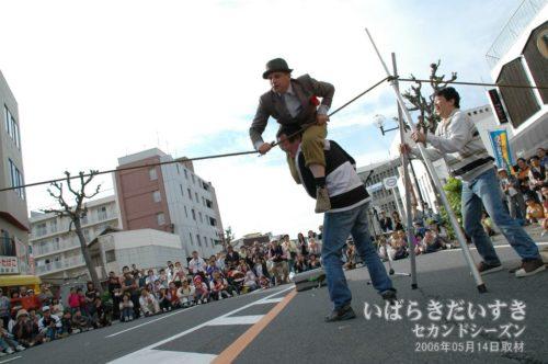 ハチャメチャ芸のハービィー氏。(2006年撮影)