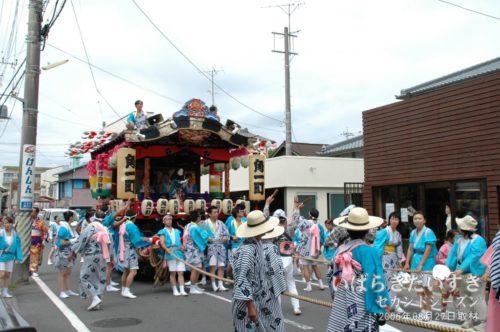 角一町の山車:大洗八朔祭2006
