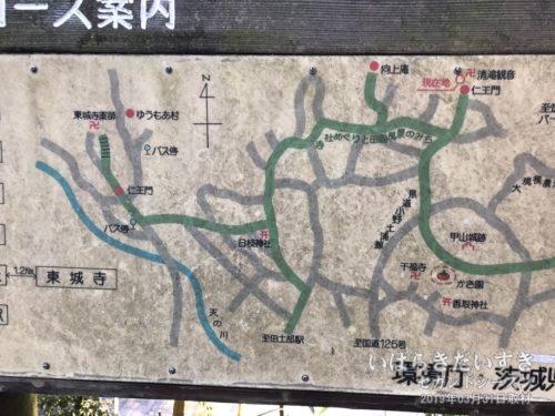 地域に存在する、ふるい周辺地図。