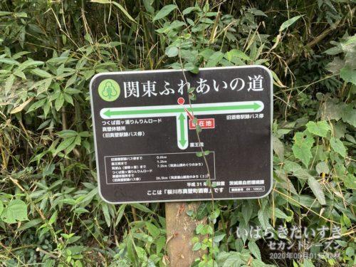 「関東ふれあいの道」の看板が新調されている。