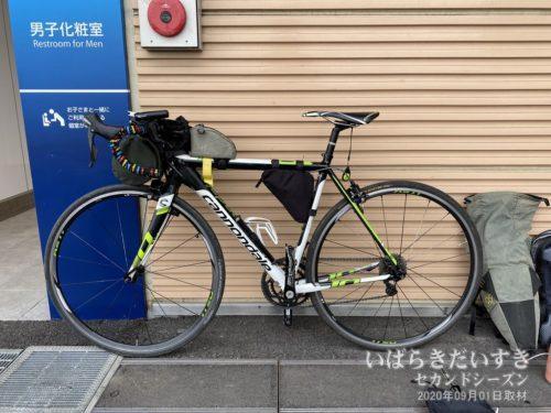 神立駅前で自転車を収納します。