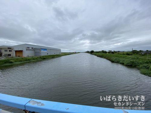 水量が増している新利根川