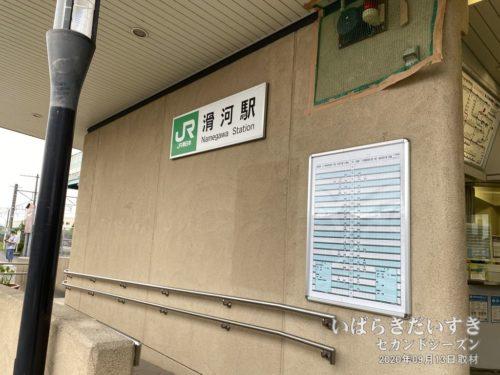 成田線 JR滑河駅に到着!