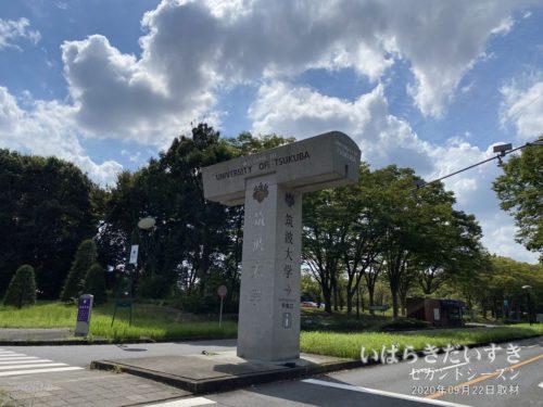 筑波大学 中央口 モニュメント