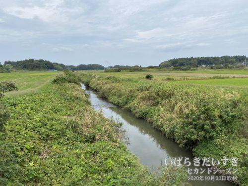 清明川を渡る。