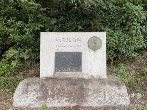 岩上二郎 元茨城県知事の碑を見つけるも、蜂がいて断念。