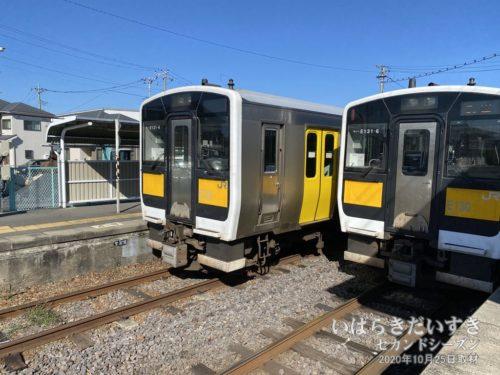 水郡線は上菅谷駅で分岐します。