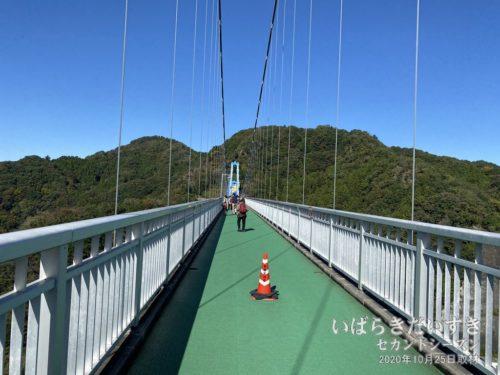 竜神大吊橋 / 橋の先に何かがあるわけではなく、観光のために架けられた吊橋。建設当時はいろいろ言われましたが、最近はこの趣旨の橋も増えました。