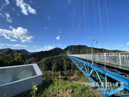 竜神大吊橋 / 天気も良く、動くと少し暑い。