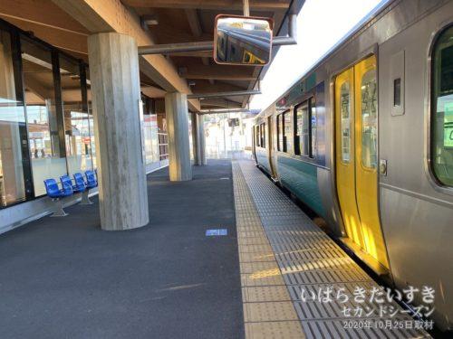 JR常陸太田駅から水郡線で水戸まで戻ります。