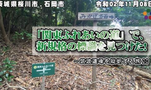 「関東ふれあいの道」で、新規格の標識を見つけた!