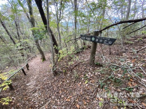 道中、「関東ふれあいの道」の標識と、踏み跡を頼りに下山していきます。