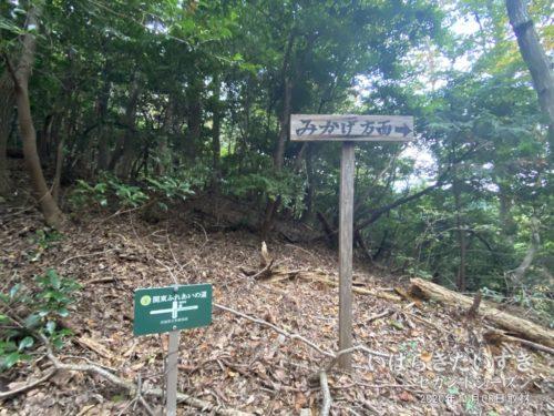 具体的なコースを記す「関東ふれあいの道」の標識。