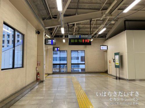 JR小山駅 宇都宮線から水戸線に乗り換え。