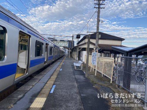 水戸線 JR岩瀬駅ホーム。